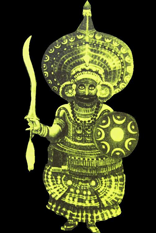 インドのお祭りテイヤムのイメージ