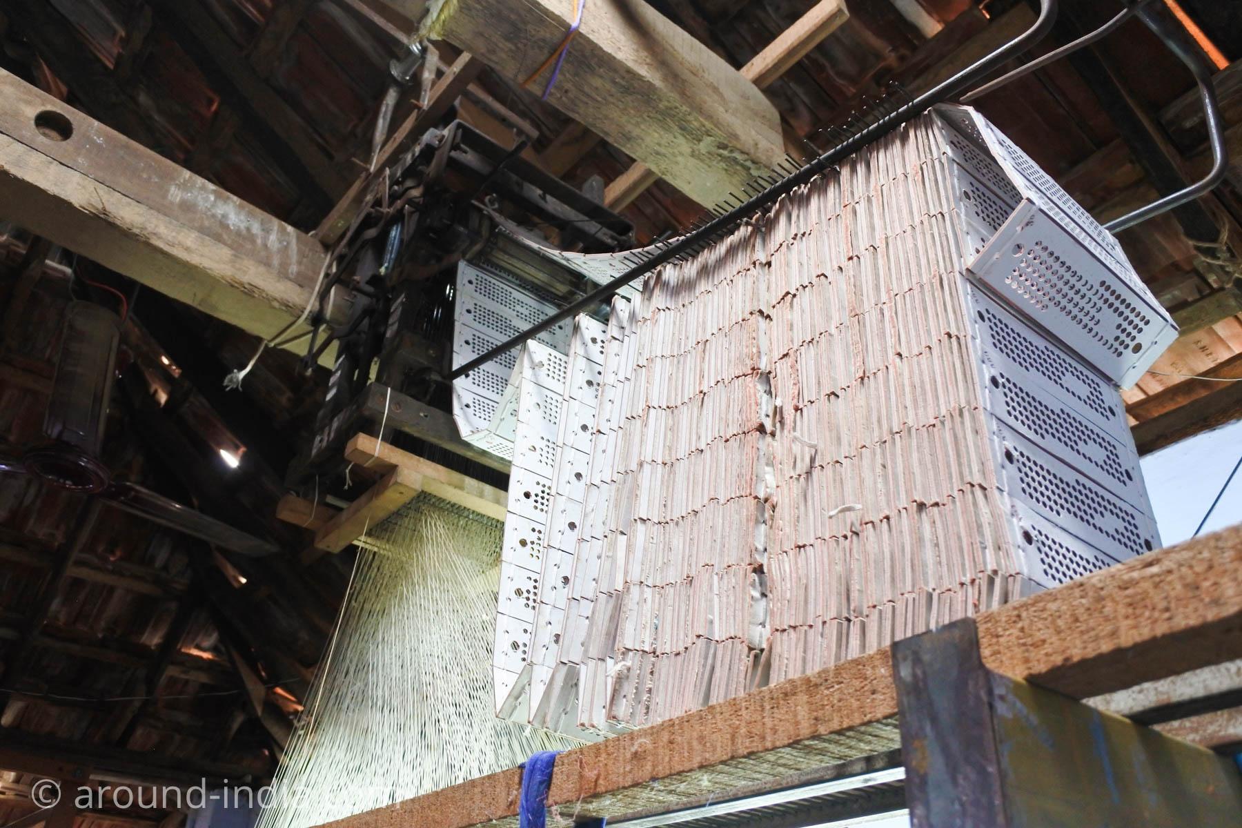 ケララ州パラッカドの織物工房 柄のパターン
