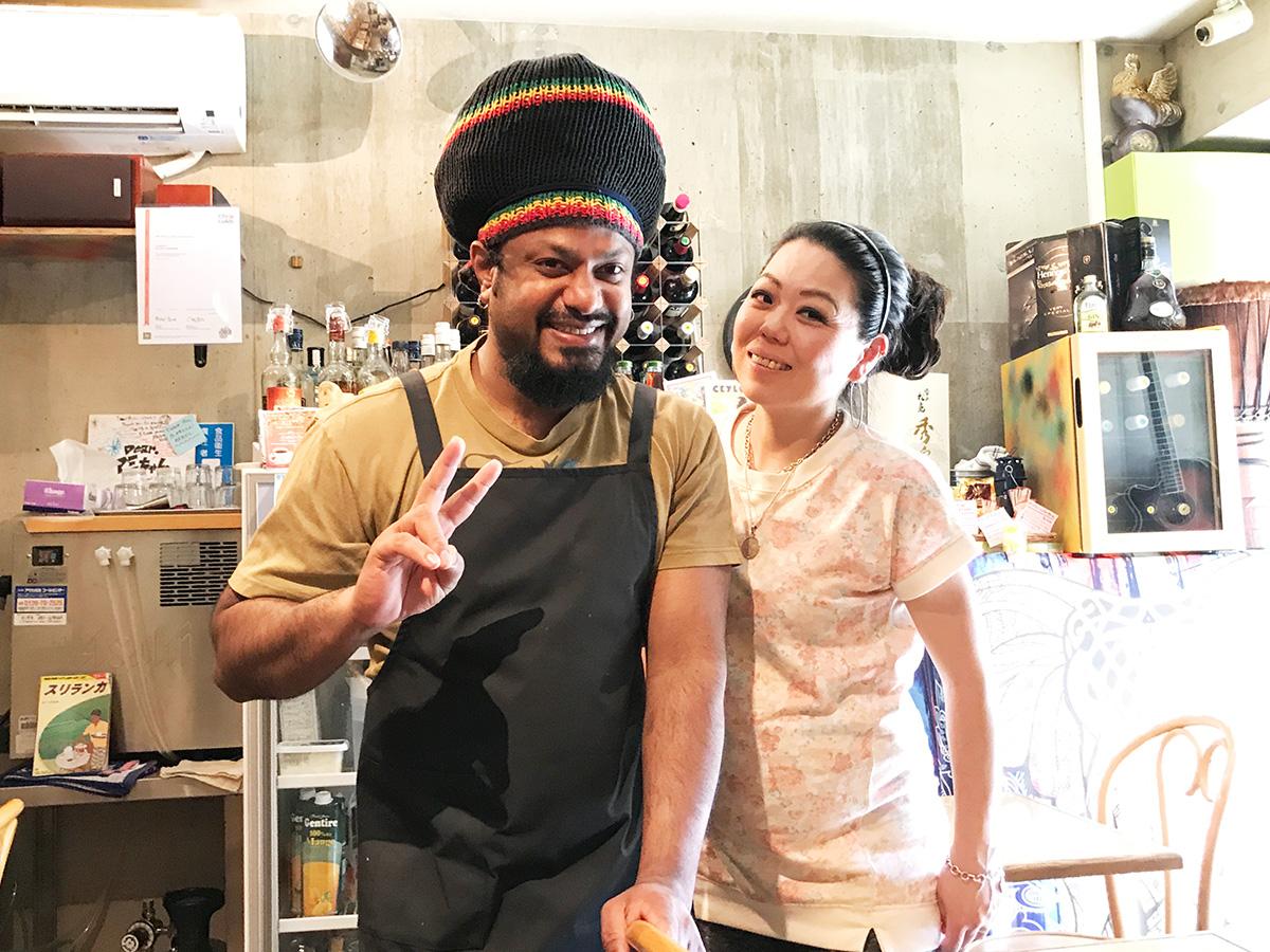 スリランカ料理KING LIONのオーナーご夫妻