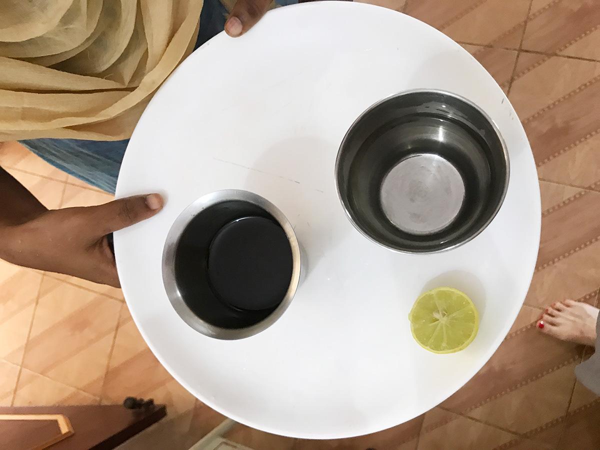 パンチャカルマ、ギー、白湯、レモン