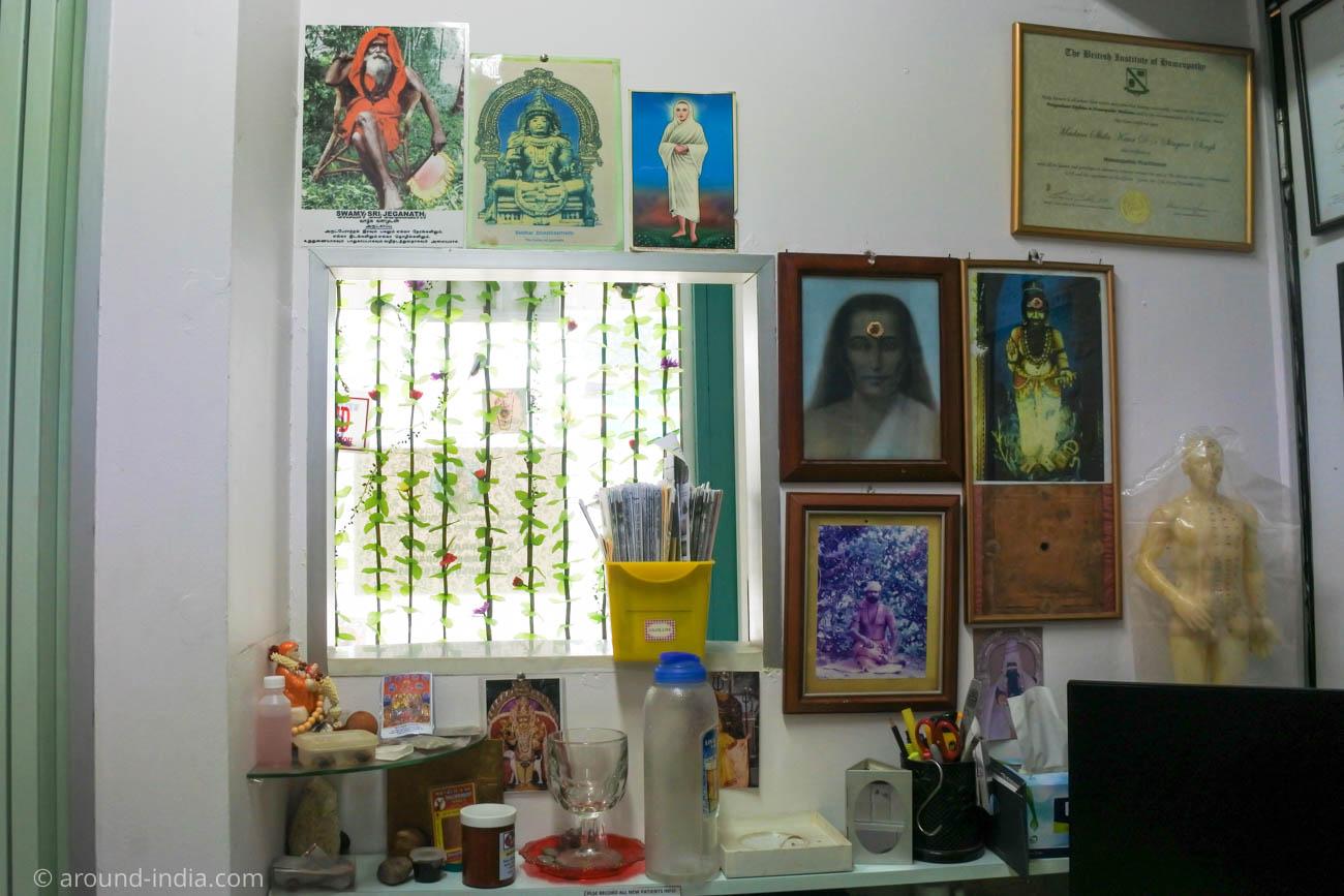 南インドの伝統医学シッダ、ドクターの席