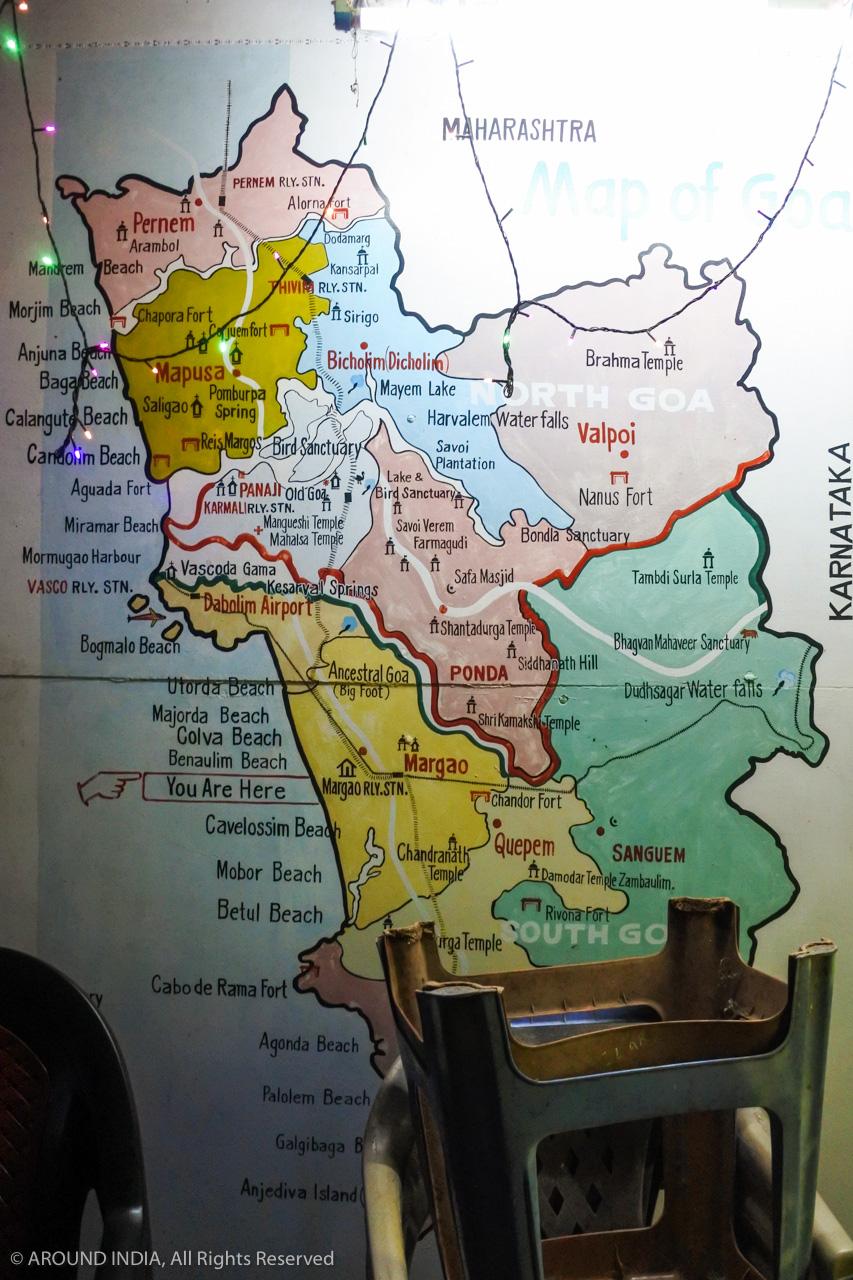 インド・ゴア州の地図