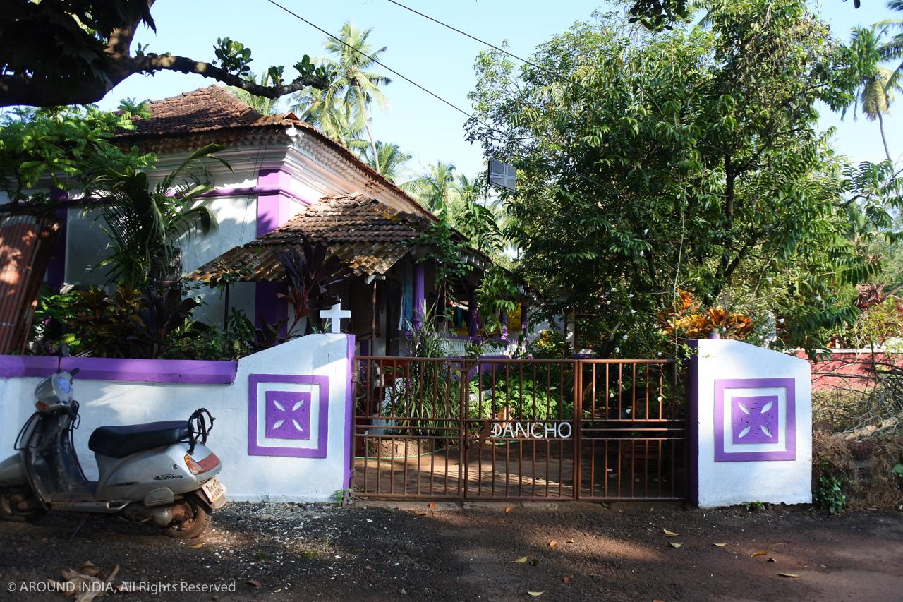 インド・ゴア州クリスチャンの家