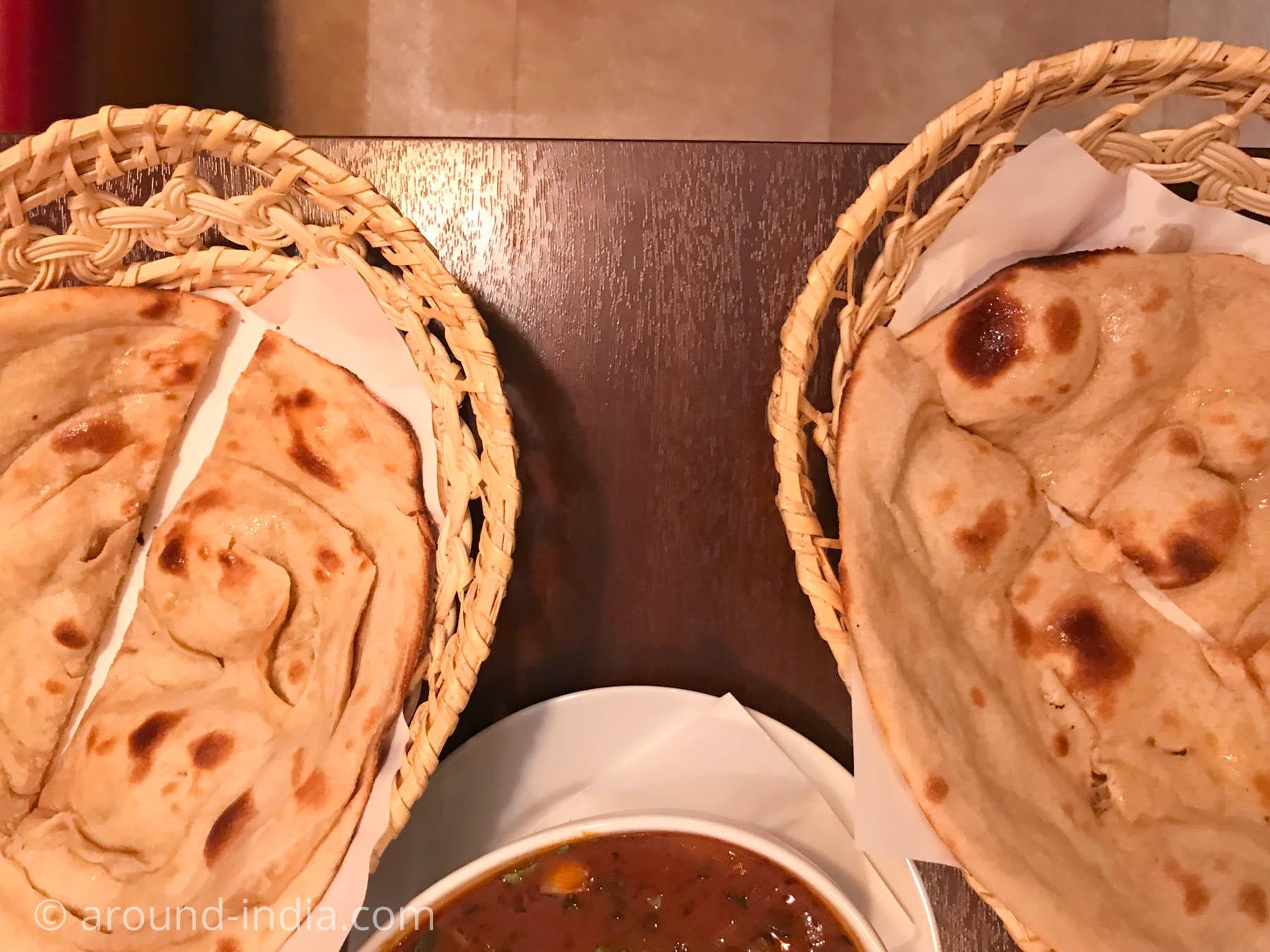 横浜中華街のインド料理店ナクシャトラ タンドーリロティとタンドーリパラタを食べ比べ