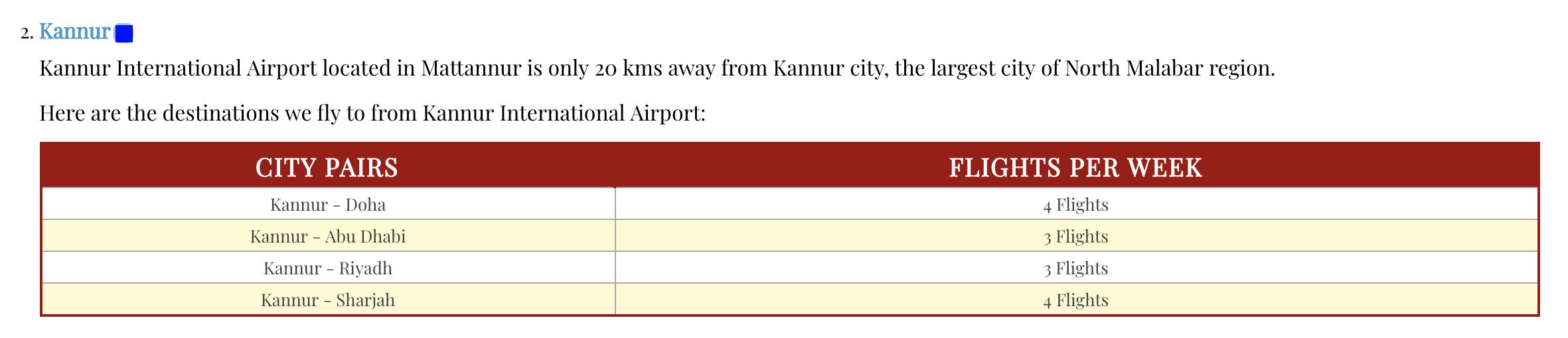 Air india expressカヌール 運航