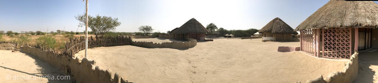 インド・グジャラート州カッチの宿SHAAM-E-SARHAD 全景