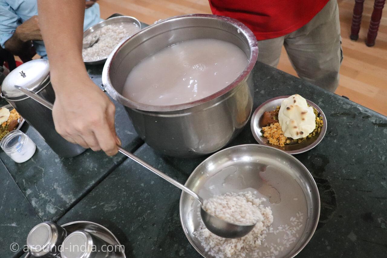 トリヴァンドラムのsree guruvayoorappan のお粥