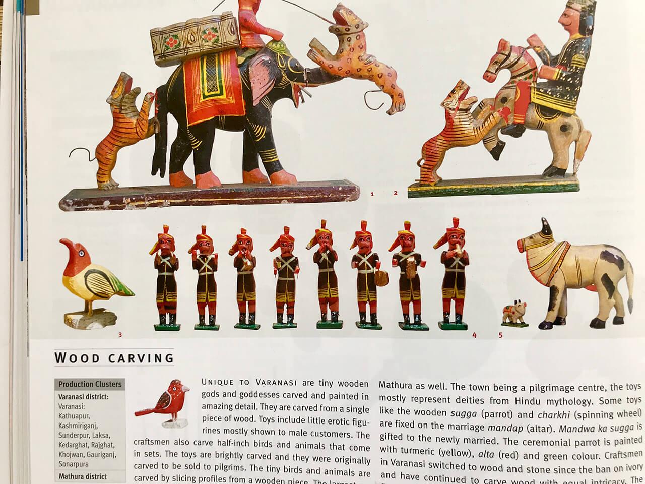 Handicraft in India、木製玩具