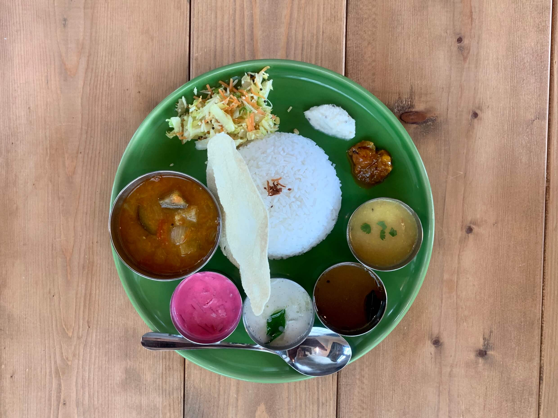 長野 南インド料理 モンマルシメ ミールス