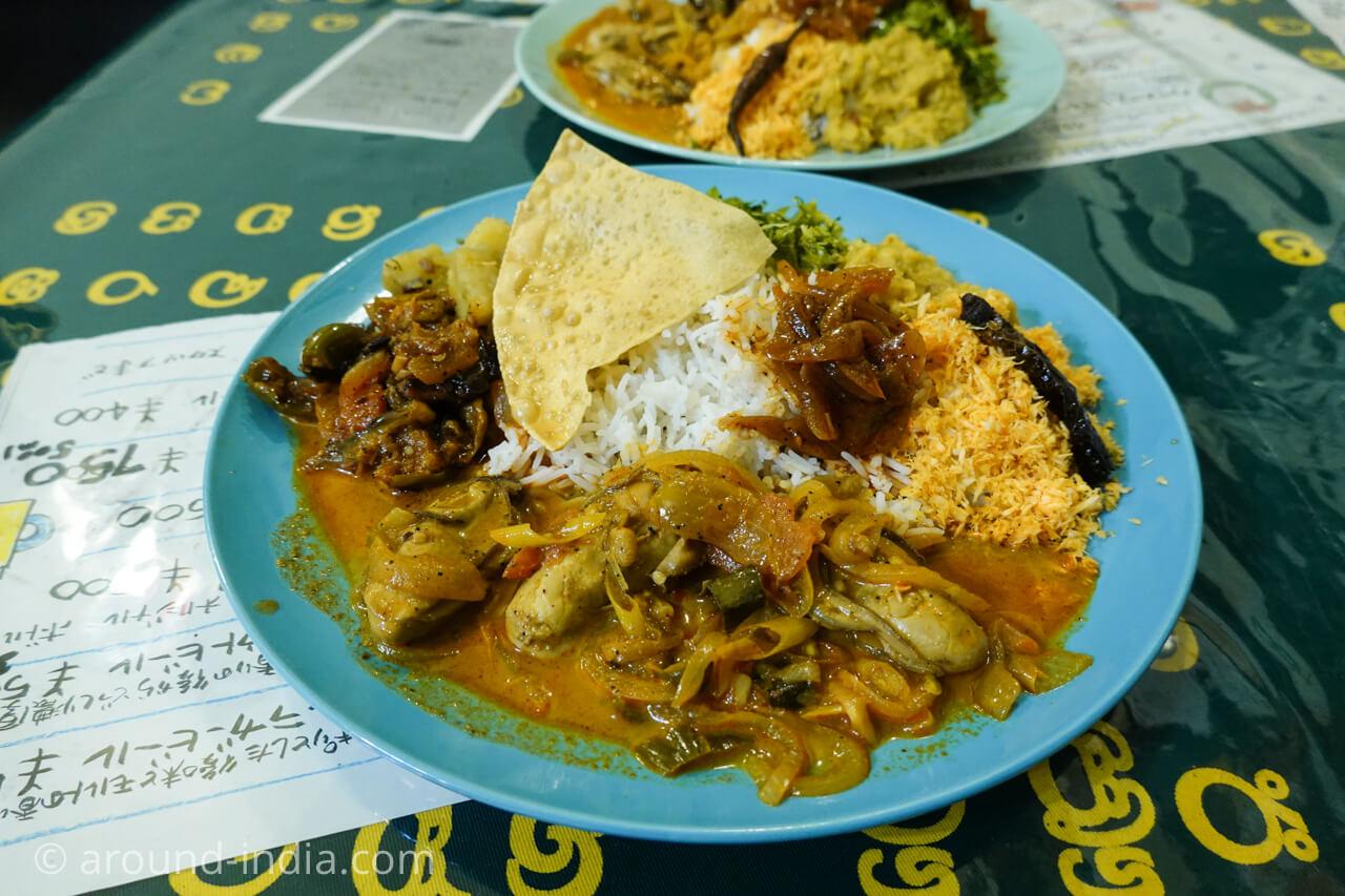 相模野のスリランカ料理ロイヤルグリーン のワンプレート