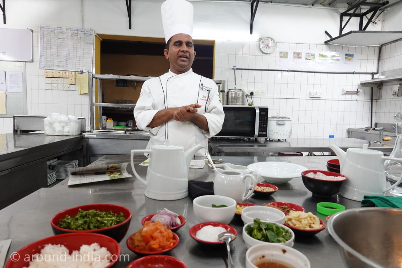 スリランカのアーユルヴェーダリゾートJetwing ayurveda pavilionの料理教室