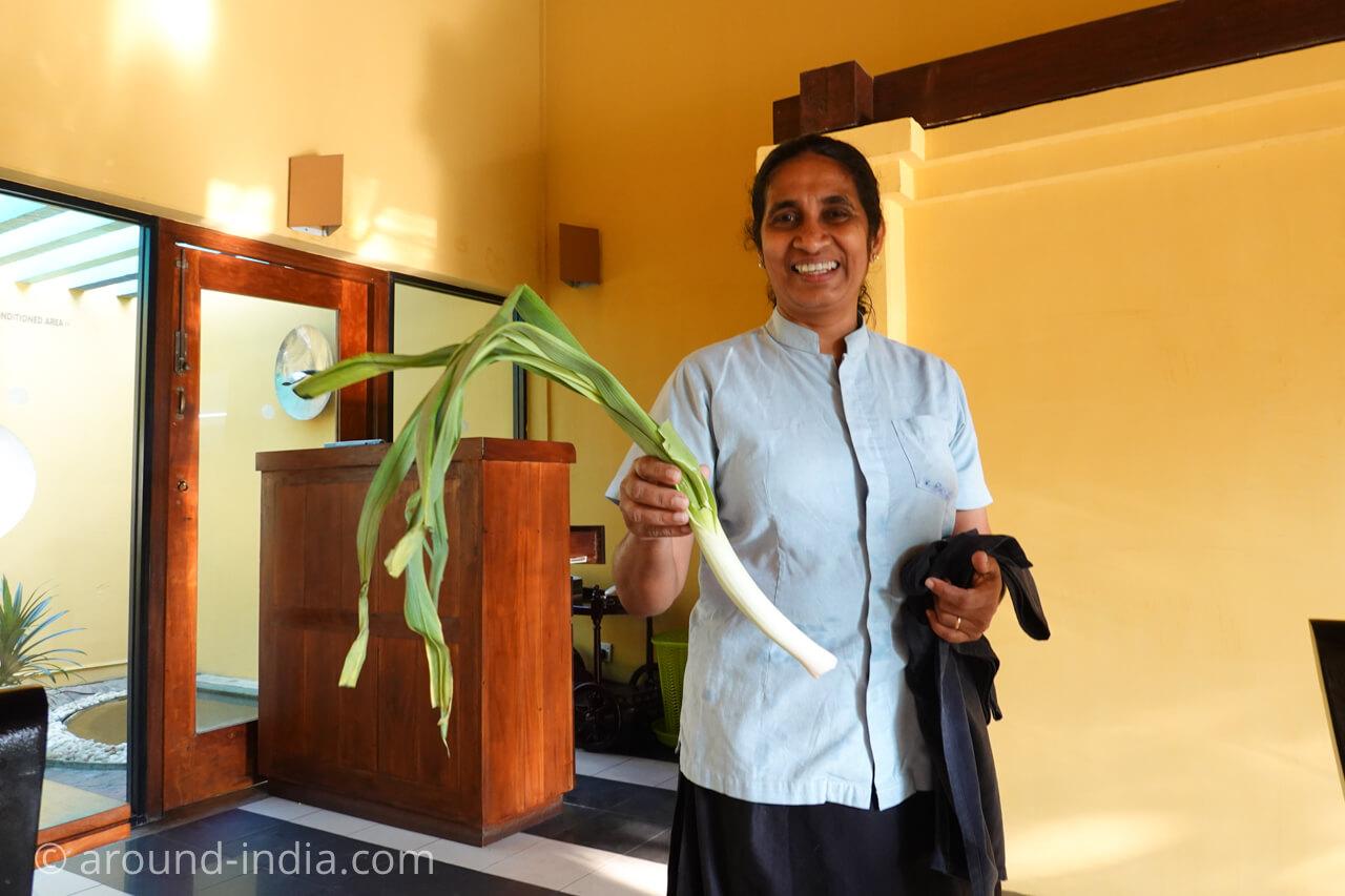 スリランカのアーユルヴェーダリゾートJetwing ayurveda pavilionの食材