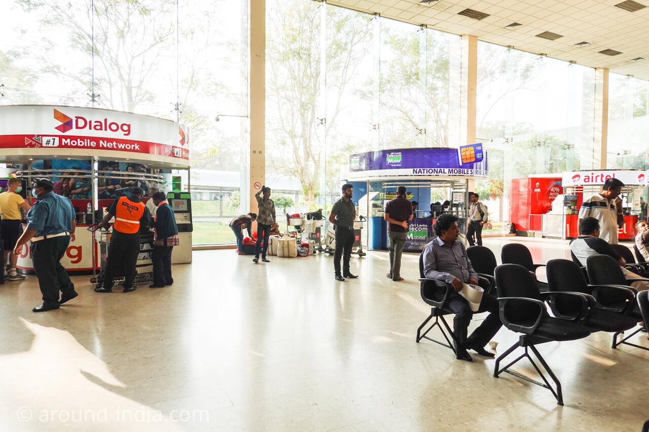 スリランカ・コロンボ空港の携帯カウンター、sim購入