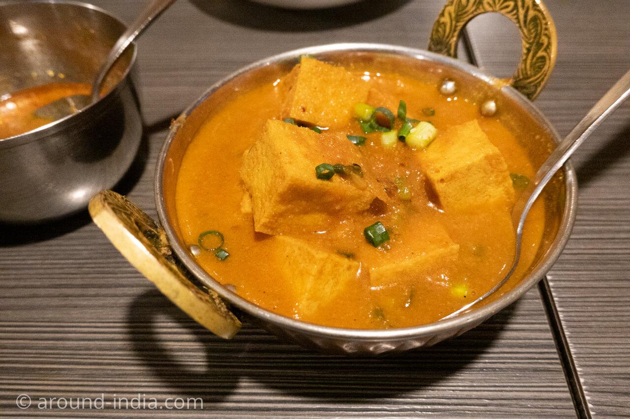 新大久保ネパール料理アーガンの厚揚げカレー