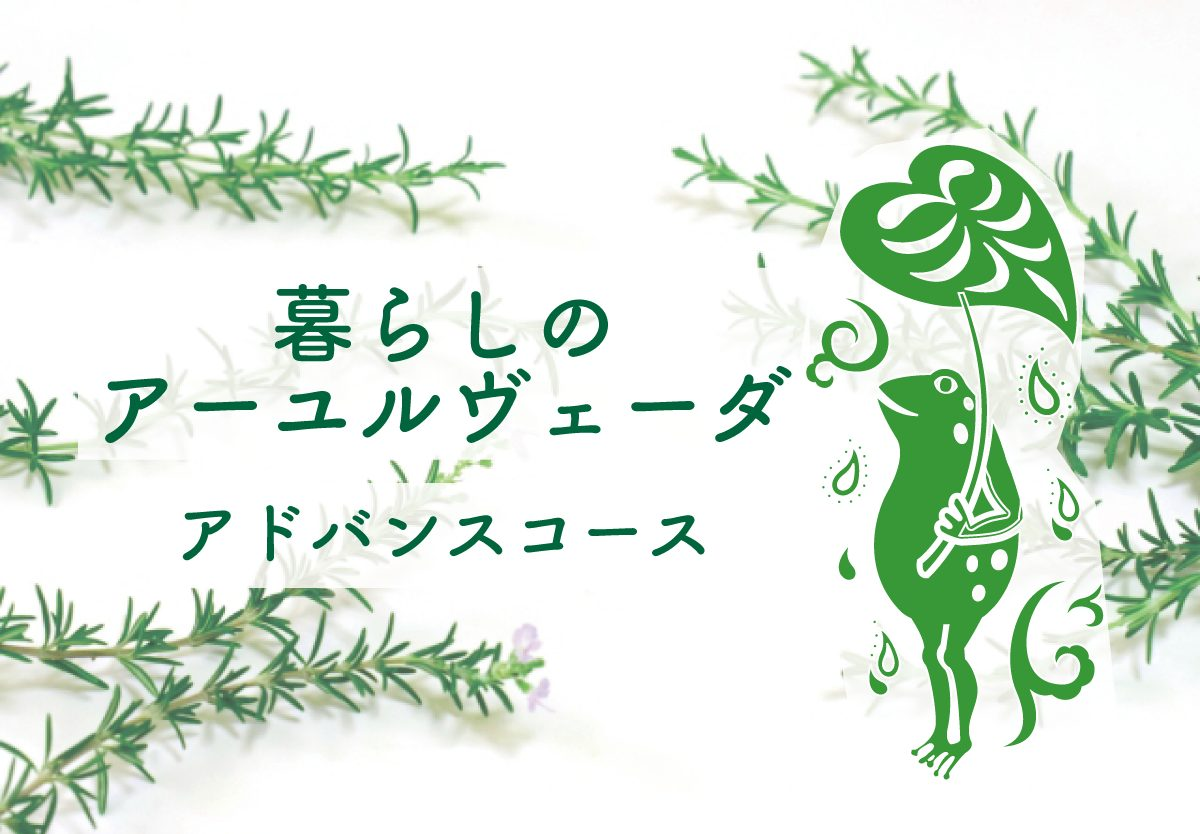 9〜11月『暮らしのアーユルヴェーダ アドバンスコース』|東京・都立大