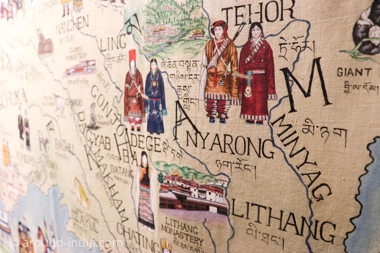 ダラムサラのノルブリンカチベット芸術 ダラムサラのノルブリンカチベット芸術 マップ