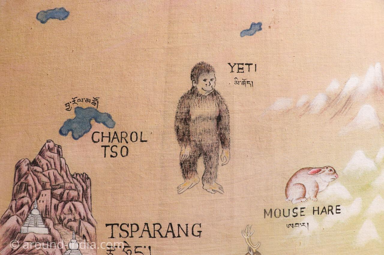ダラムサラのノルブリンカチベット芸術 ダラムサラのノルブリンカチベット芸術 イエティ