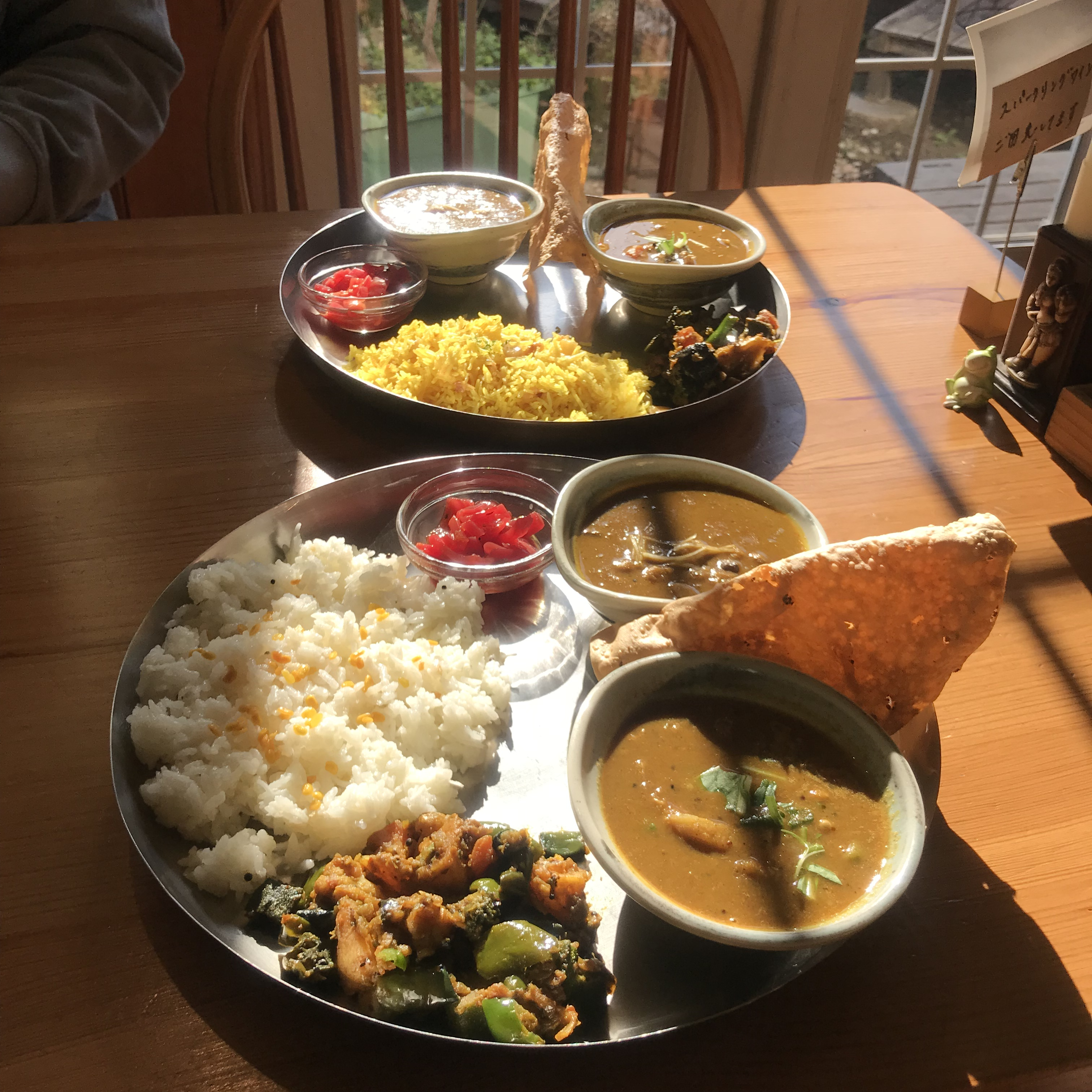 辻堂・茅ヶ崎インド欧風料理メノンの南インドミールス、ココナッツライス