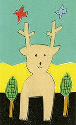 西荻ラヒの安西水丸さんのイラストのカード