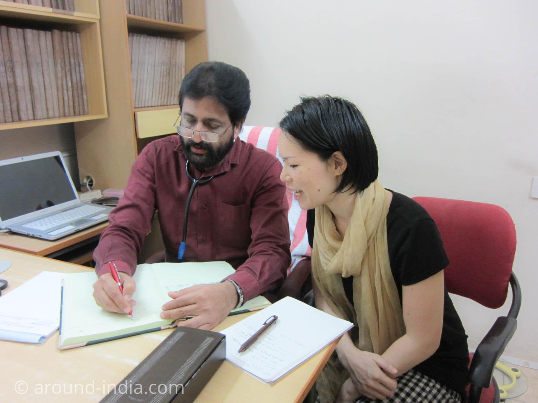 インド・ホメオパシーの問診