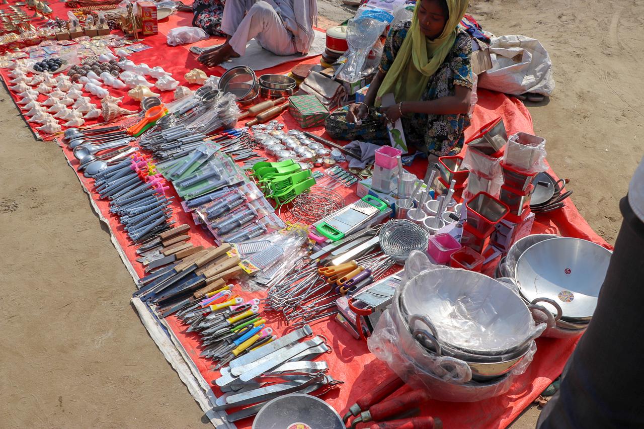 インドのお祭 クンブメーラ マーケット