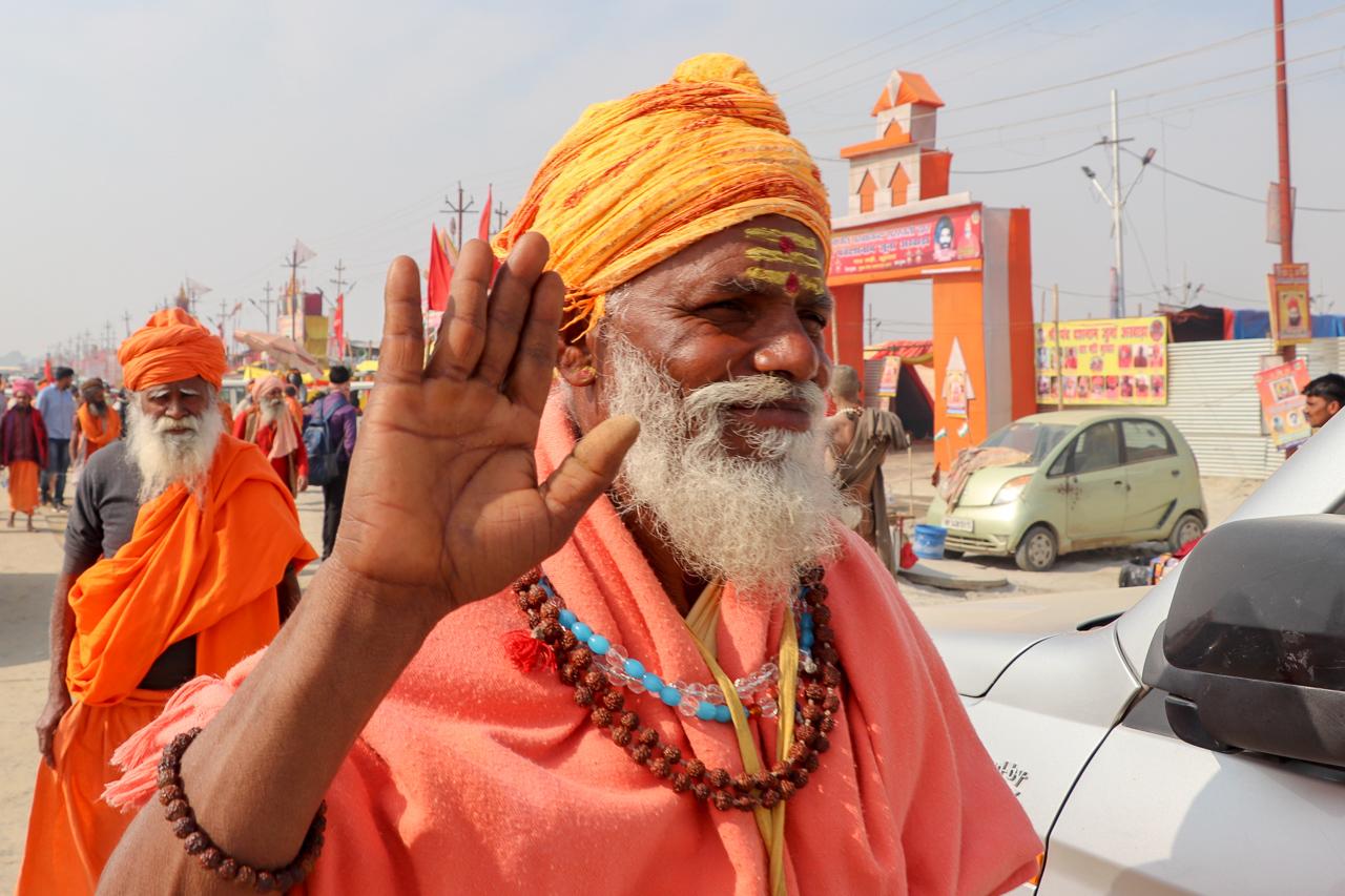 インドのお祭 クンブメーラ サドゥ sadhu