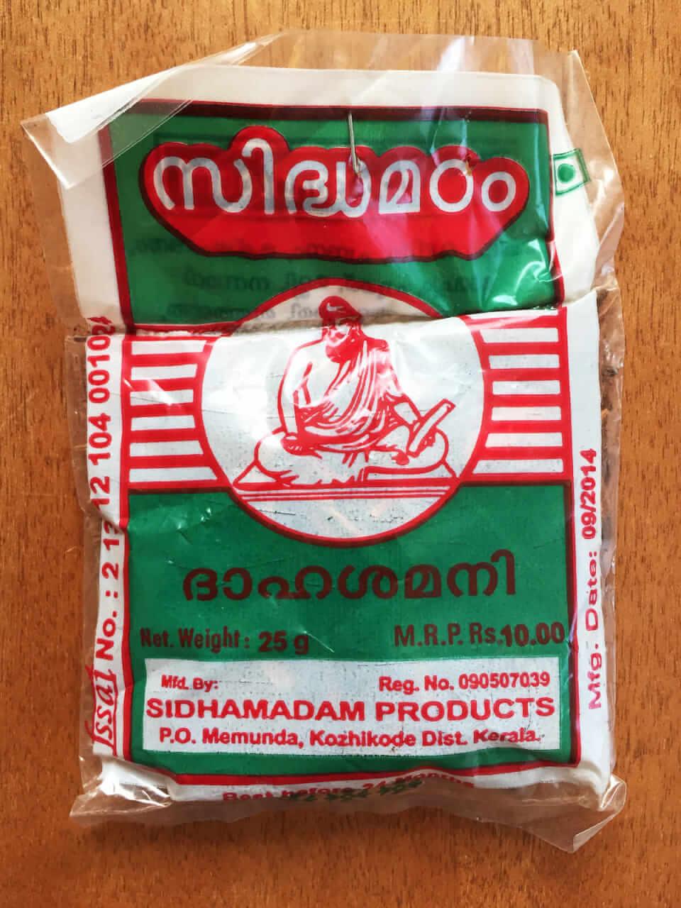 Pathimukhamパッケージ表