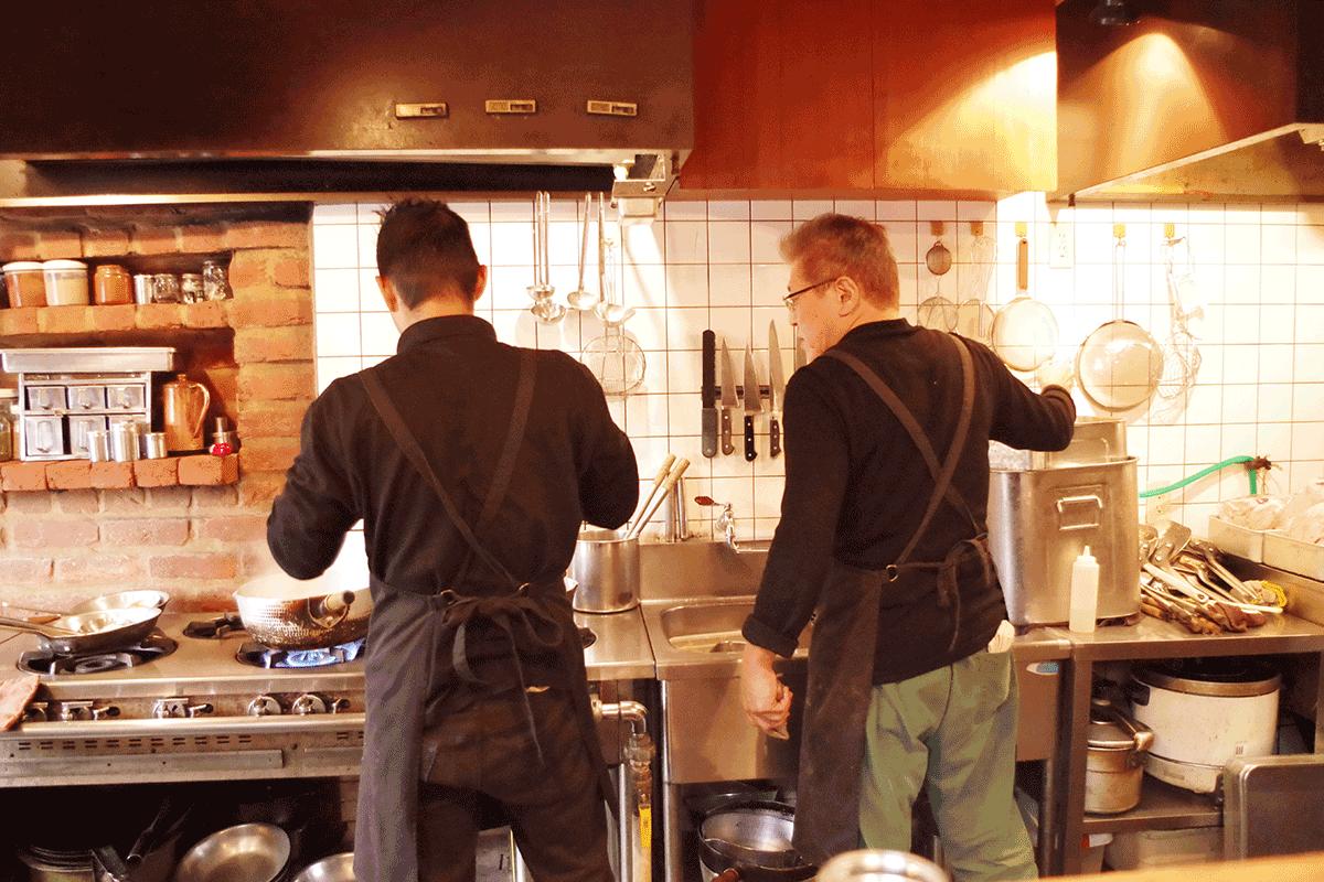 茅ヶ崎ボージャンのキッチン
