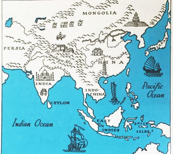 インドの古い地図