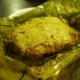 Bhetki Paturiバナナの葉を開いたところ