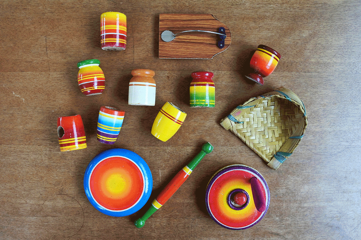 インドで買った木製キッチンツールおままごとセット