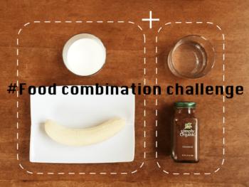 食べ合わせチャレンジ、バナナミルク編