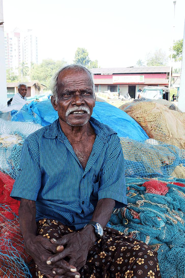 ケララ州カヌールの漁港で会った漁師さん