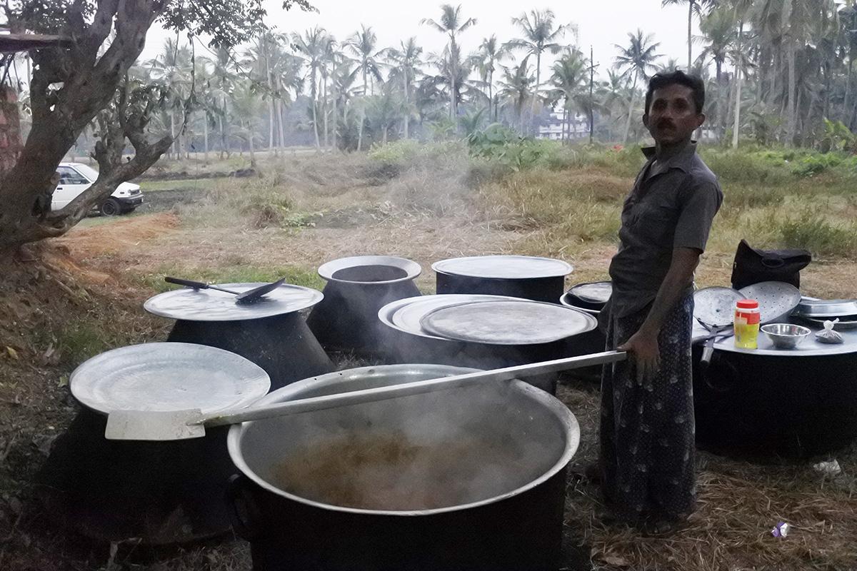 結婚式のビリヤニ鍋