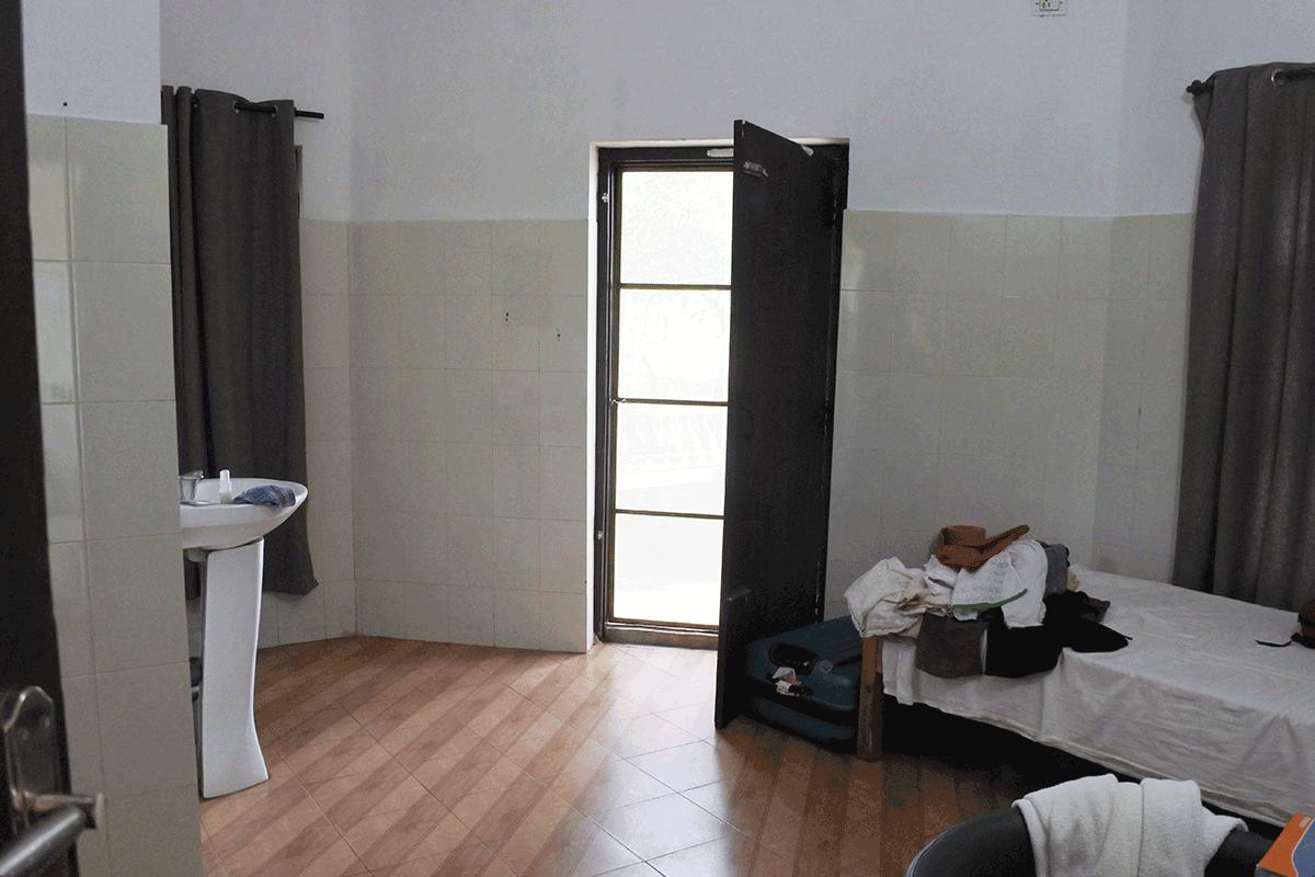 PVA Ayurvedic Hospitalの一室