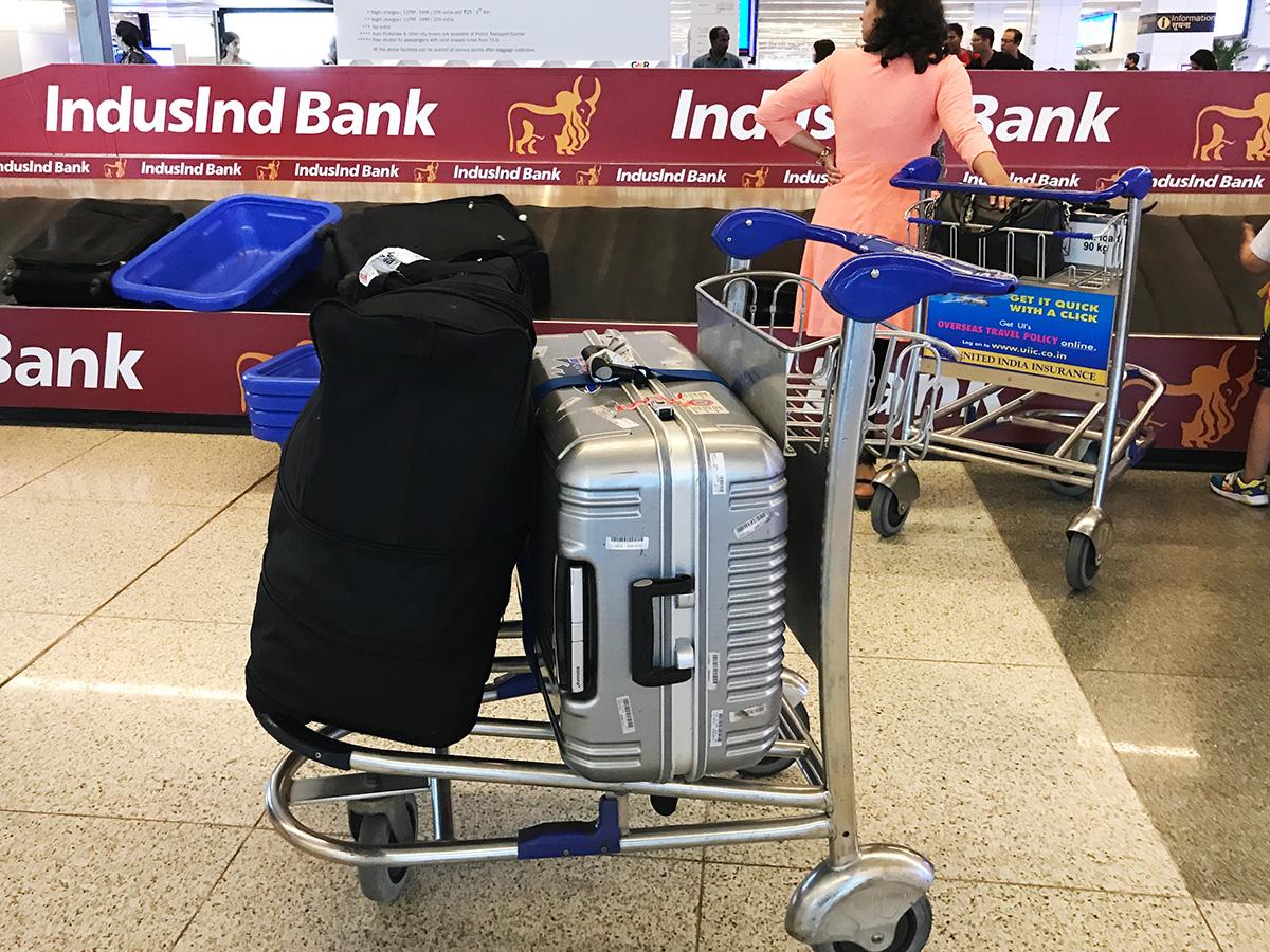 インド2017春まだ50数キロだったころの荷物