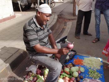 ムンバイの実演販売