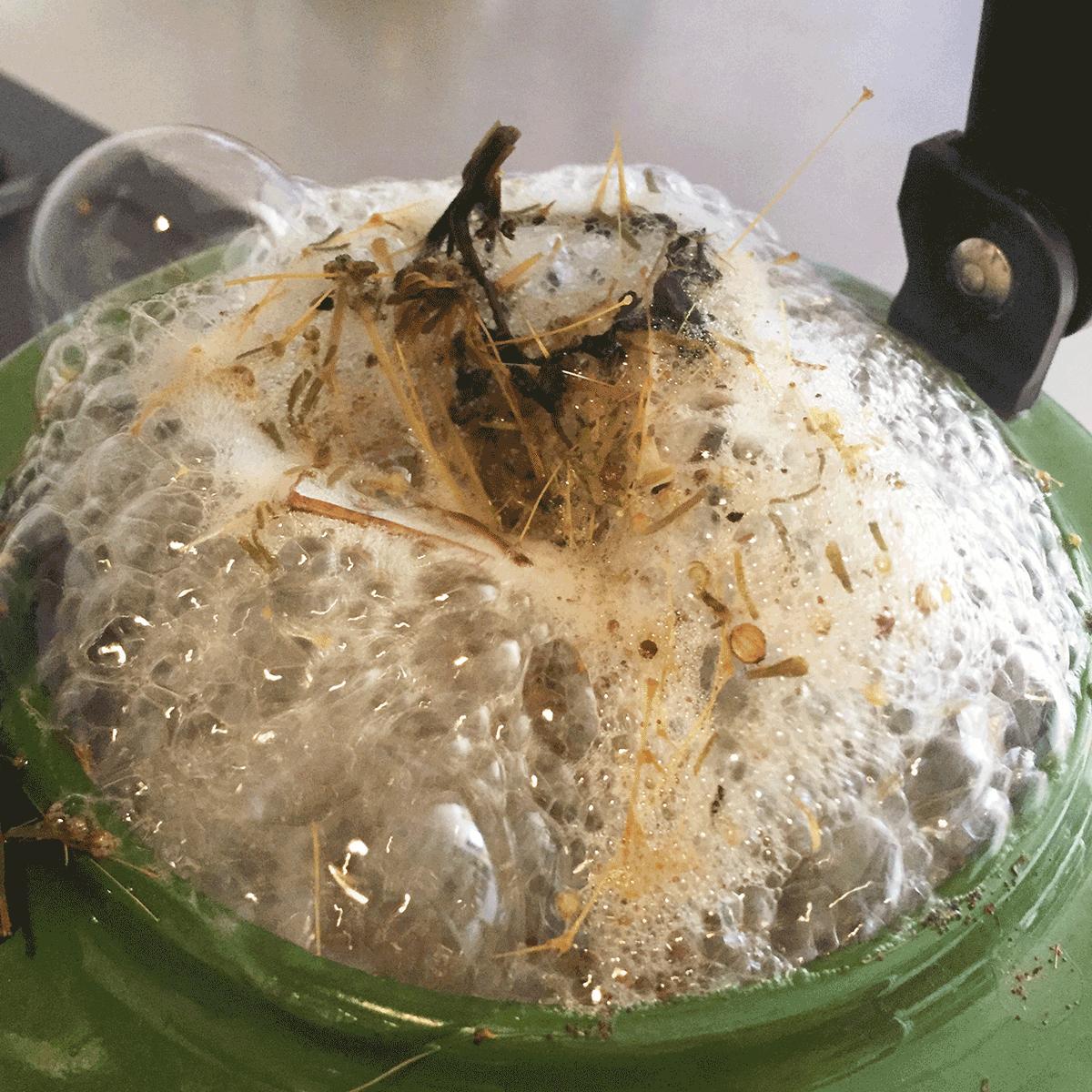 沸騰して溢れんばかりのパスパングワ