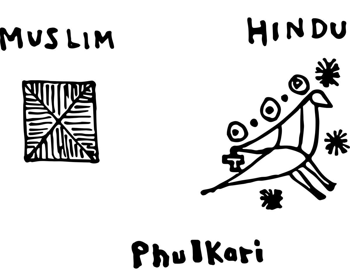 フルカリのムスリムとヒンドゥーのイメージ