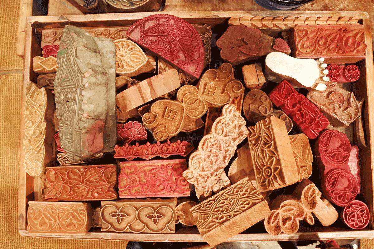 グランピエ、インドの木版