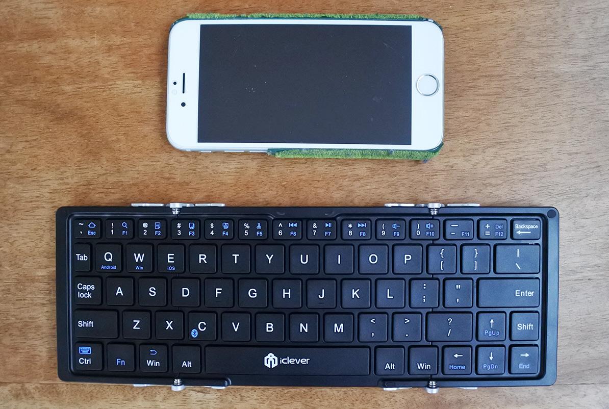 icleverの折りたたみ式キーボードとiphone6