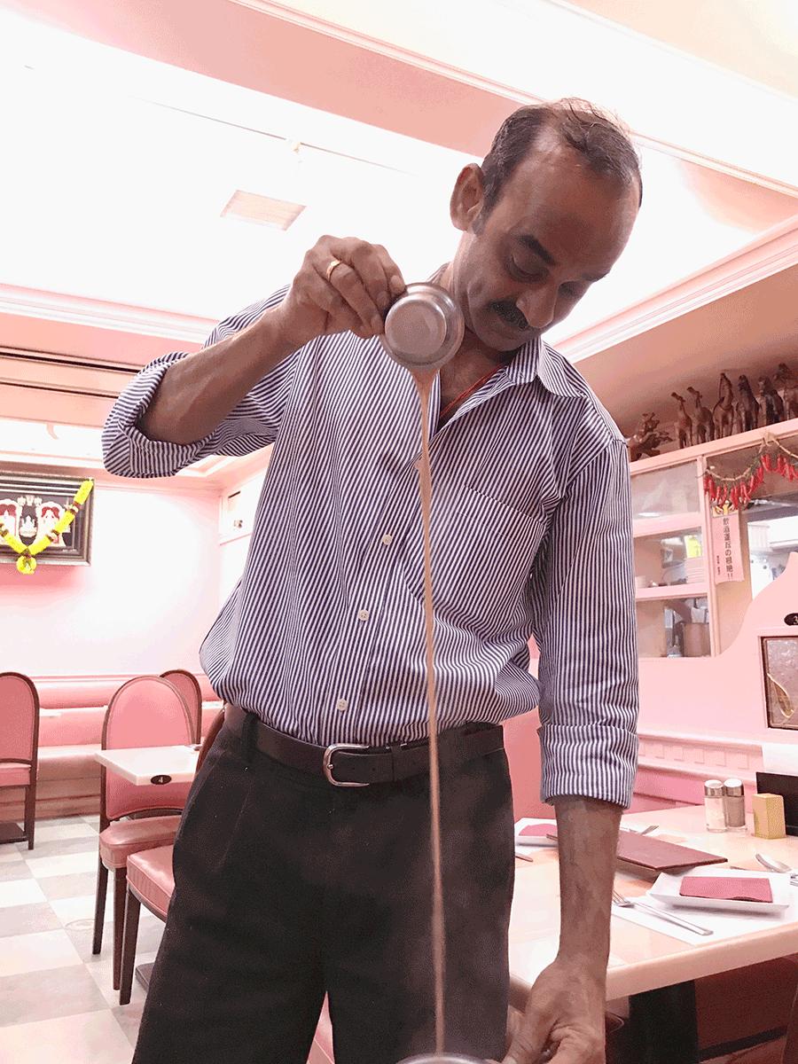 中目黒の南インド料理シリバラジ、チャイ