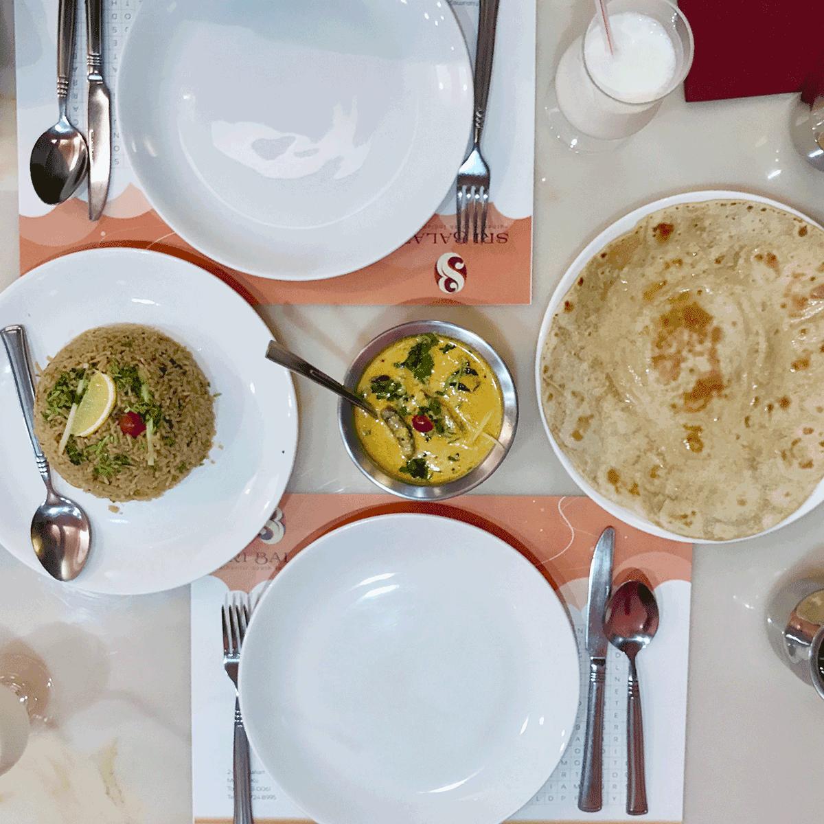 中目黒の南インド料理シリバラジ、ビリヤニ、チャパティ、アヴィアル