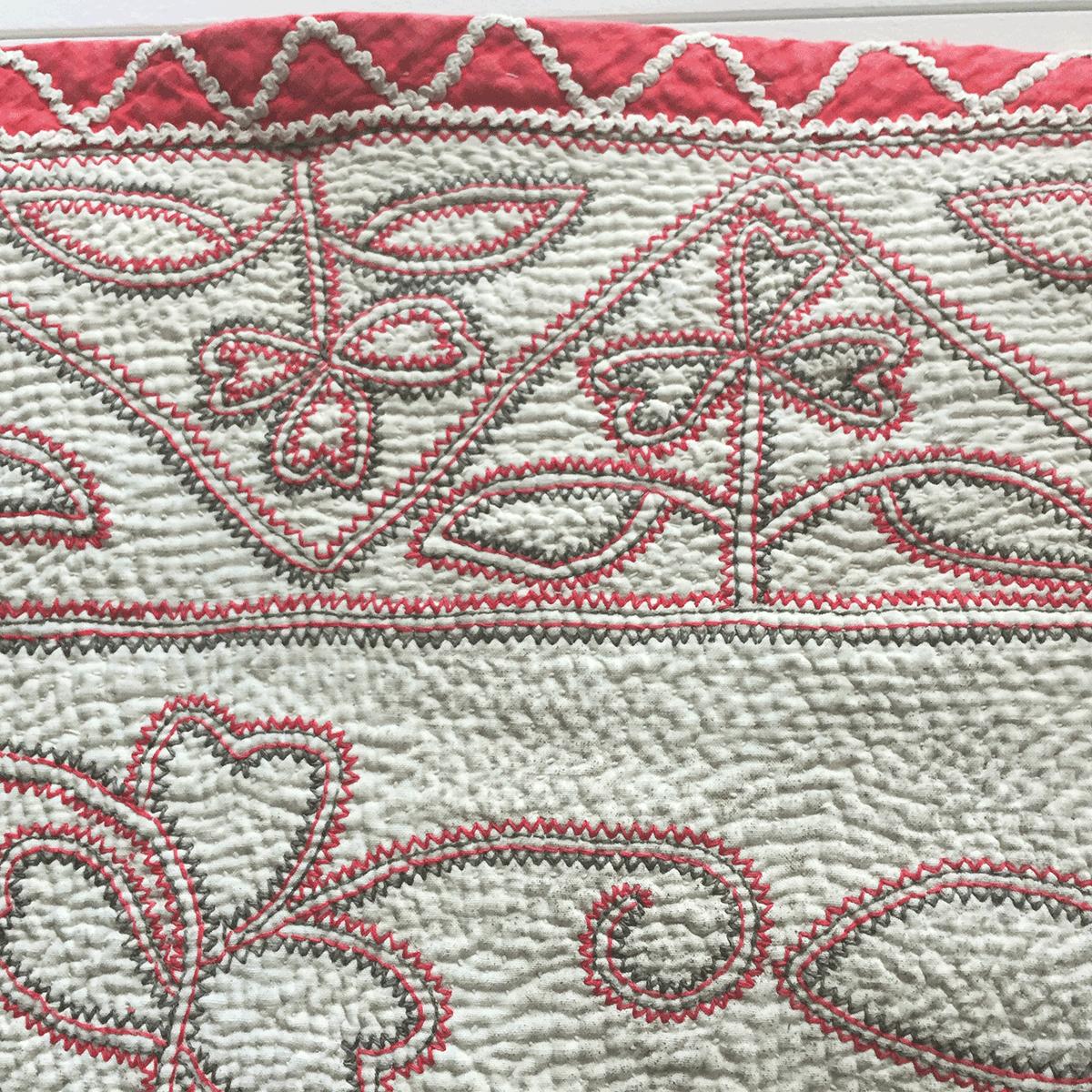 岩立フォークテキスタイルミュージアムのカンタ近景、イスラムの抽象柄