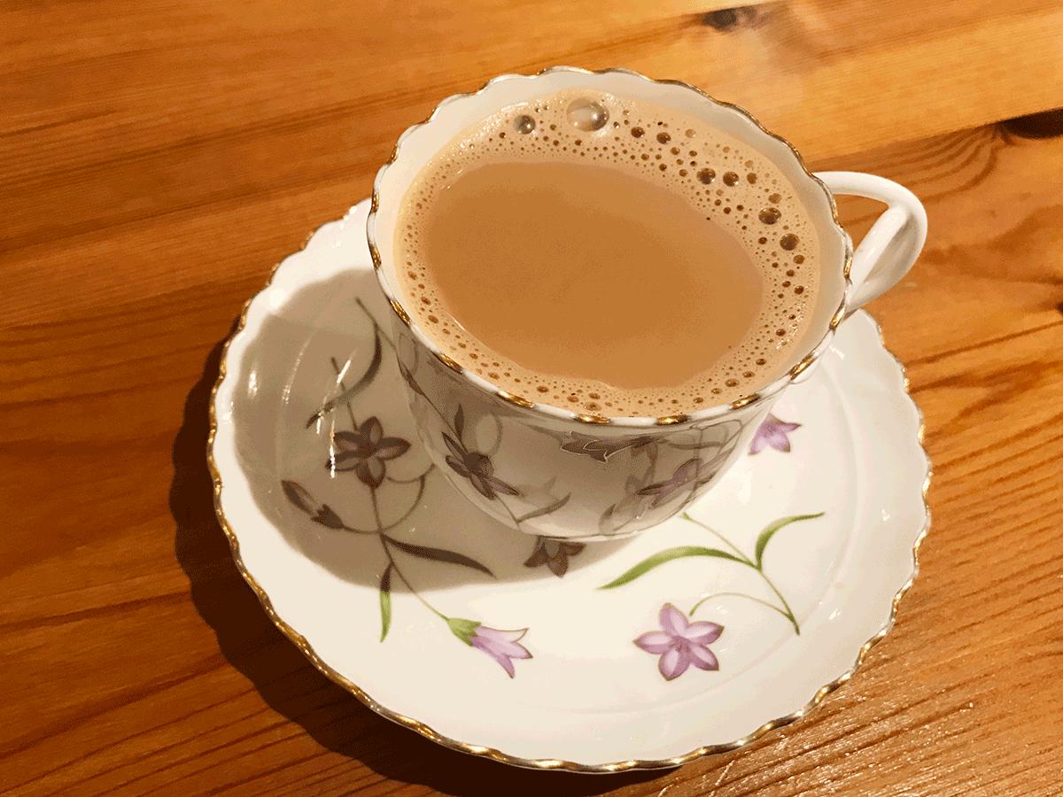 辻堂のインド料理メノンのチャイ