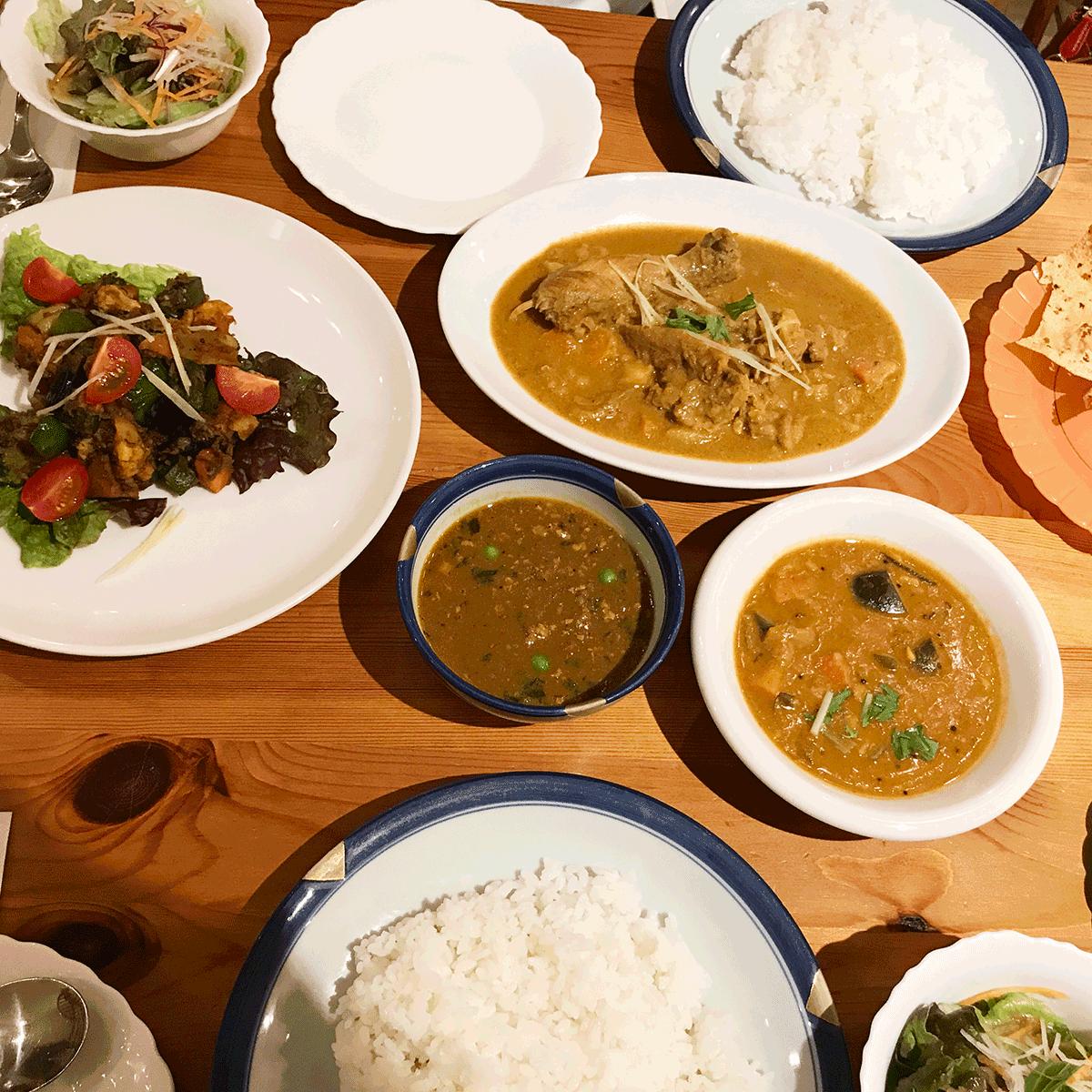 辻堂のインド料理メノンのディナー