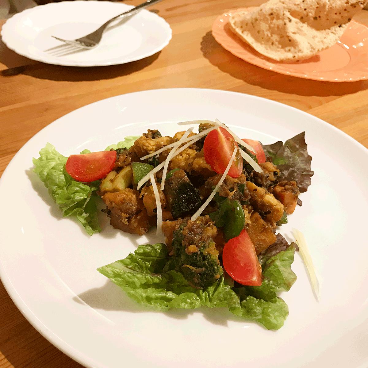 辻堂のインド料理メノンの大好きなサブジ
