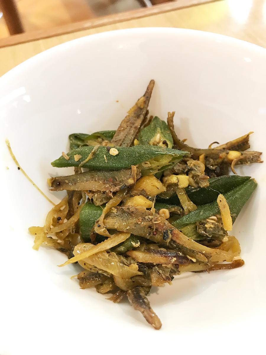 オクラと煮干しのスリランカ料理