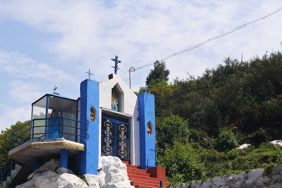 ケララの山岳部には教会が多いです
