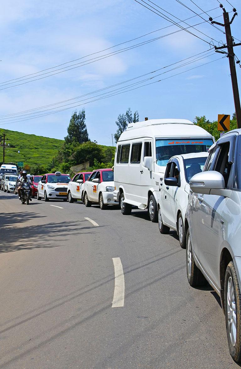 ニルギリ Ootyの渋滞